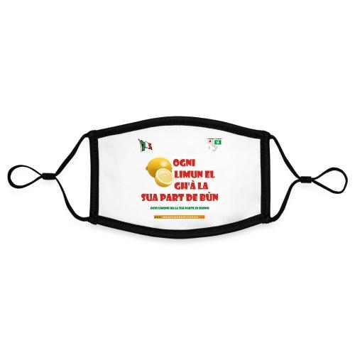 lombardia limun - Mascherina in contrasto cromatico, regolabile (piccola)