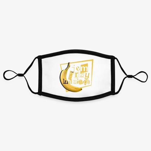 Jem przy ludziach - Kontrastowa maska, regulowana (rozmiar S)