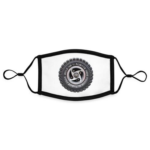 toughwheels - Contrasterend mondkapje, instelbaar (Small)