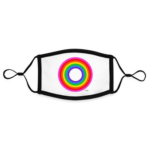 Eternal Rainbow - Kontrastivärinen maski, säädettävä (small)