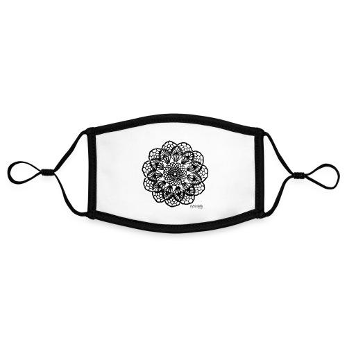 Grannys flower, musta - Kontrastivärinen maski, säädettävä (small)