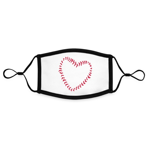 2581172 1029128891 Baseball Heart Of Seams - Contrast mask, adjustable (small)