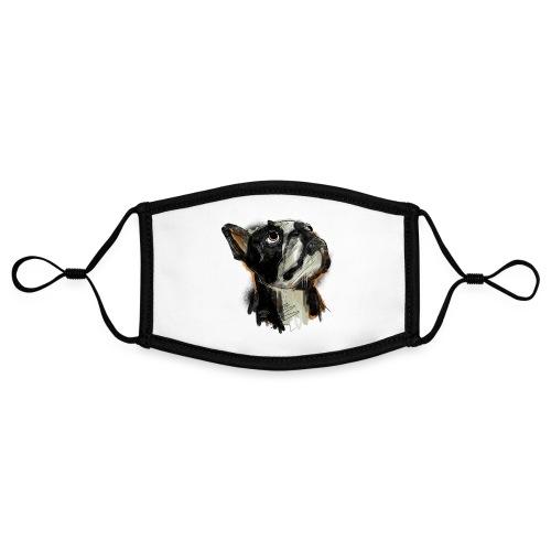 Französische Bulldogge Zeichnung - Kontrastmaske, einstellbar (Small)