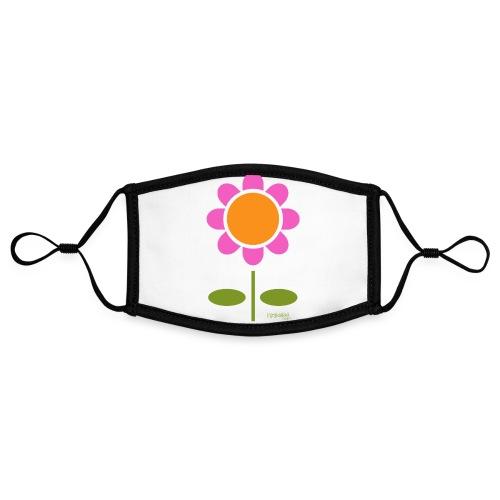 Retro flower - Kontrastivärinen maski, säädettävä (small)