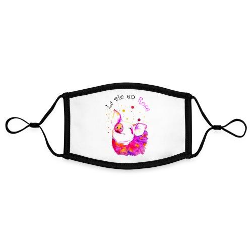 Cochon, porcinet la vie en rose - Masque contrasté, réglable (taille S)