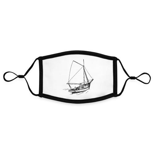 Sailing boat Printdesign - Kontrastmaske, einstellbar (Small)