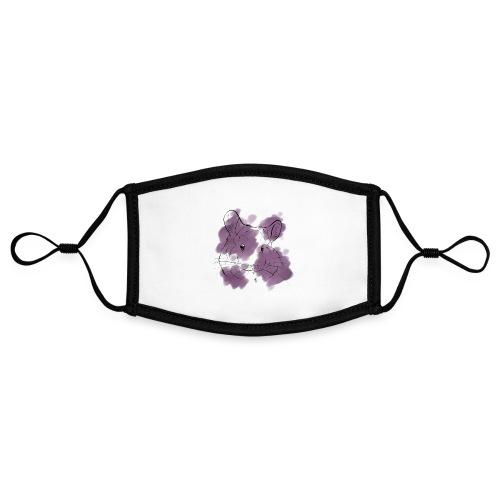 Violet splash chinchilla - Kontrastivärinen maski, säädettävä (small)