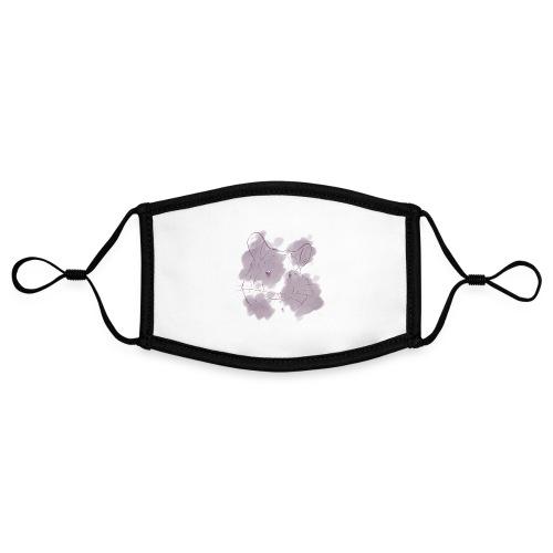 Violet splash chinchilla 2 - Kontrastivärinen maski, säädettävä (small)