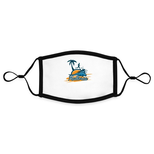 Joggen auf Mallorca - Sport - sportlich - Jogging - Kontrastmaske, einstellbar (Small)