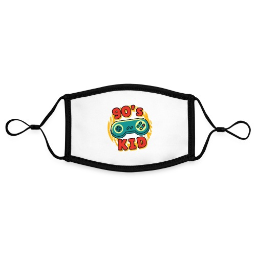 90s Kid Kinder der 90er Jahre Gaming - Kontrastmaske, einstellbar (Small)