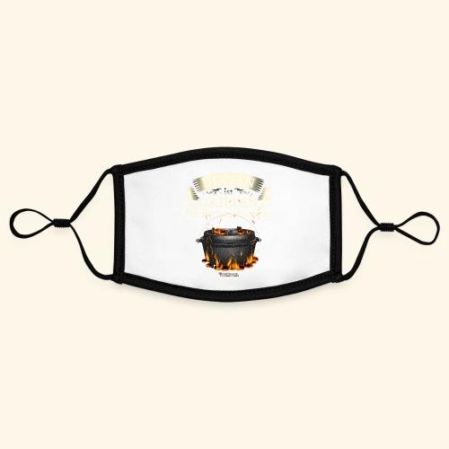 Grill Spruch Dopfen - Grillen für Fortgeschrittene - Kontrastmaske, einstellbar (Small)