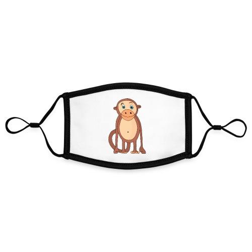 Bobo le singe - Masque contrasté, réglable (taille S)