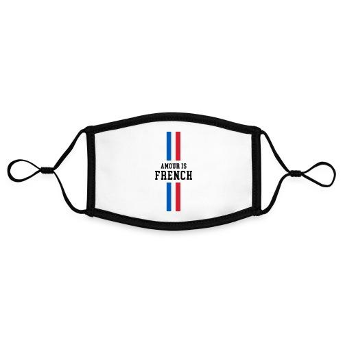 NOUVEAU masque Amour. is French - Masque contrasté, réglable (taille S)