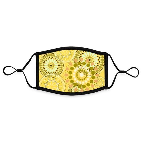 Fleur Hippie jaune - Masque contrasté, réglable (taille S)