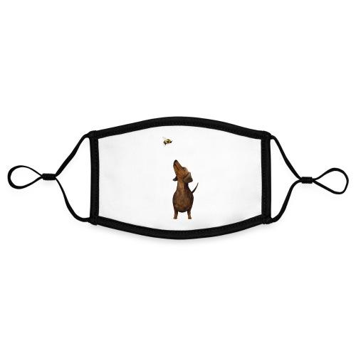 Dackel mit Hummel - Kontrastmaske, einstellbar (Small)