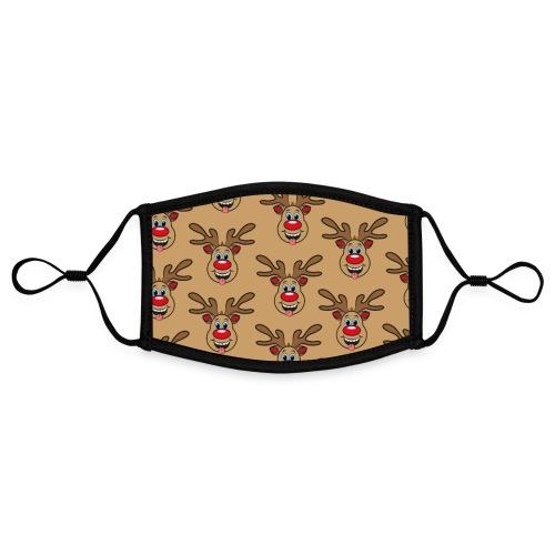Ugly Xmas Brown Rudi - Kontrastmaske, einstellbar (Small)