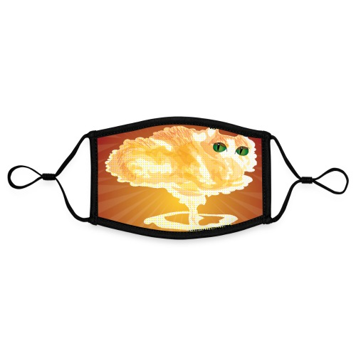 Atomic Cat maskerdesign - Contrasterend mondkapje, instelbaar (Small)