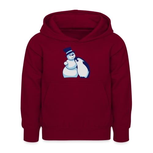 Schneemann und Pinguin - Kinder Hoodie