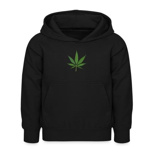 2000px-Cannabis_leaf_2 - Hoodie til børn