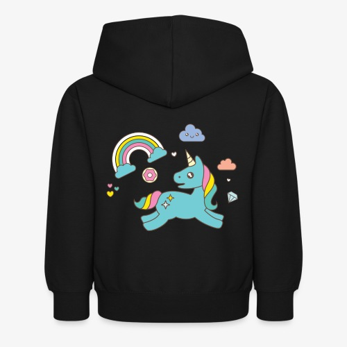 colored unicorn - Kids Hoodie