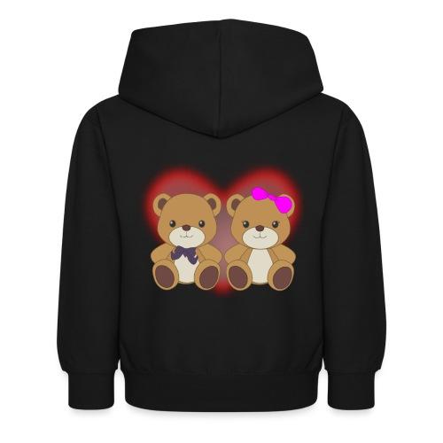 Orsetti con cuore - Felpa con cappuccio per bambini