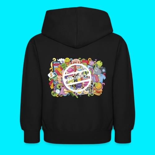 maglia logo doodle - Felpa con cappuccio per bambini