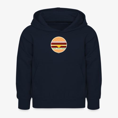 Circle Burger - Felpa con cappuccio per bambini