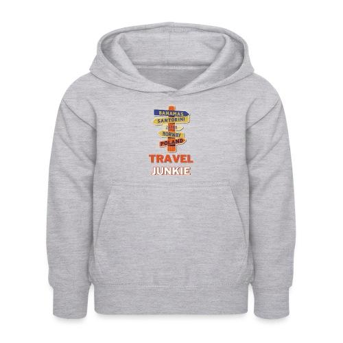 traveljunkie - i like to travel - Kinder Hoodie