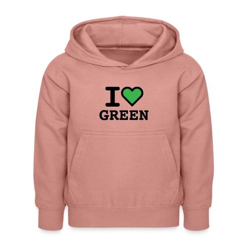 i-love-green-2.png - Felpa con cappuccio per bambini