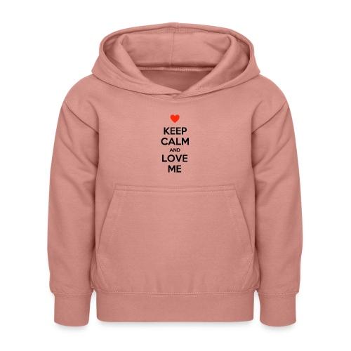 Keep calm and love me - Felpa con cappuccio per bambini