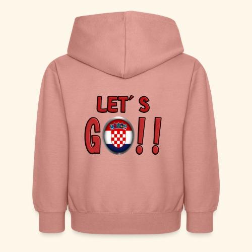 Go Croatia - Felpa con cappuccio per bambini