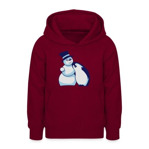 Schneemann und Pinguin - Teenager Hoodie