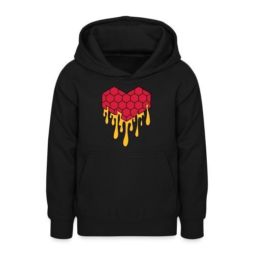 Honey heart cuore miele radeo - Felpa con cappuccio per teenager
