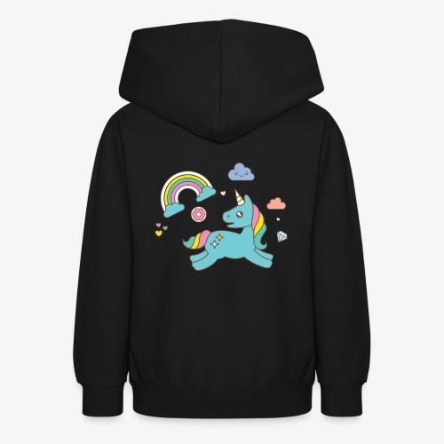 colored unicorn - Teen Hoodie