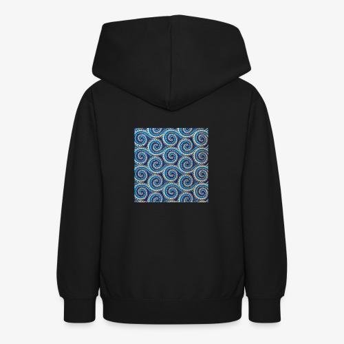 Spirales au motif bleu - Sweat à capuche Ado