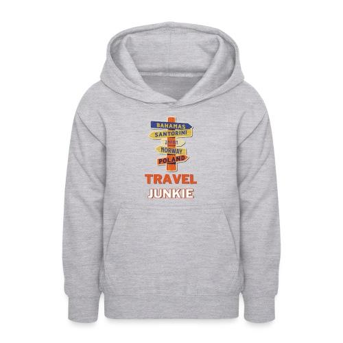 traveljunkie - i like to travel - Teenager Hoodie