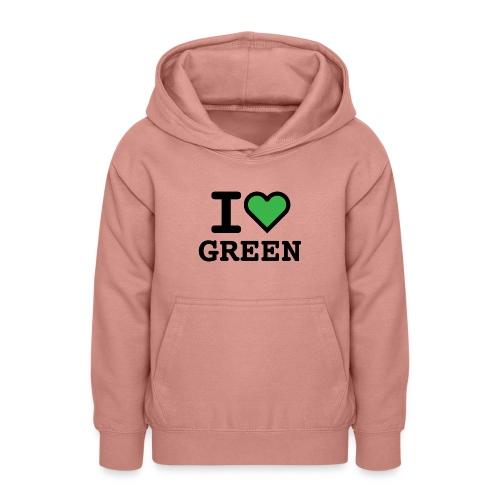 i-love-green-2.png - Felpa con cappuccio per teenager