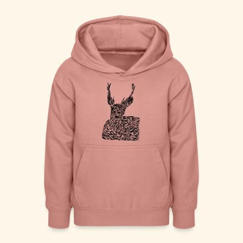 deer black and white - Nuorten huppari