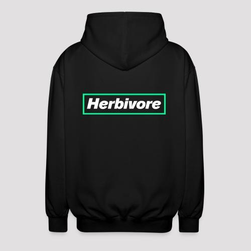Herbivore Logo White - Felpa unisex con cappuccio