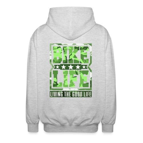 Bikelife Green Camo - Unisex Hooded Jacket