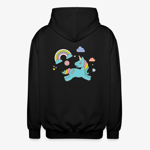 colored unicorn - Unisex Hooded Jacket