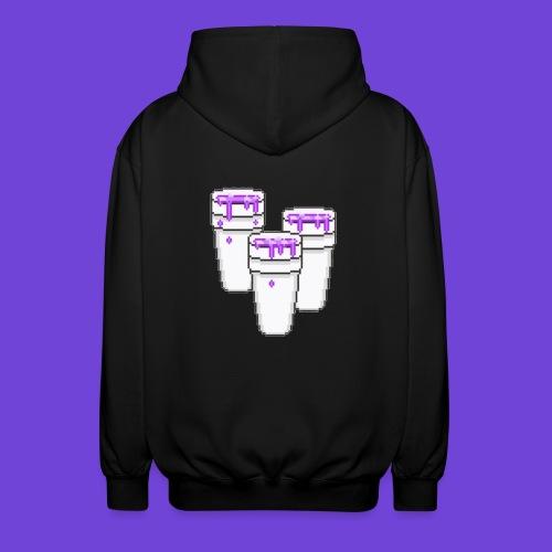 Purple - Felpa unisex con cappuccio