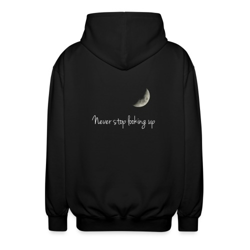 Never stop looking up - Unisex Hooded Jacket