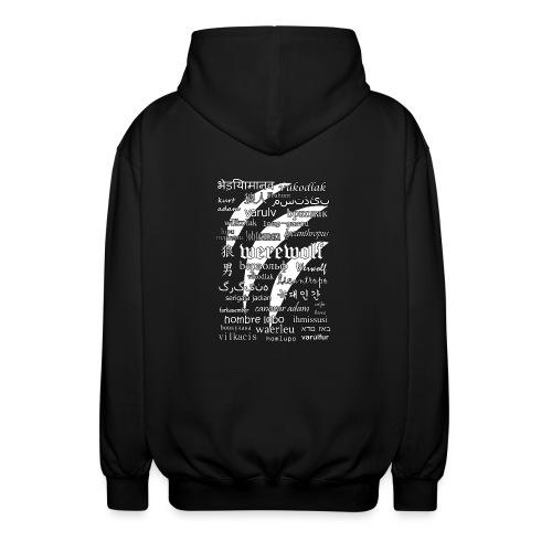Werewolf in 33 Languages (Black Version) - Rozpinana bluza z kapturem unisex
