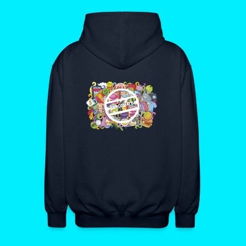 maglia logo doodle - Felpa unisex con cappuccio