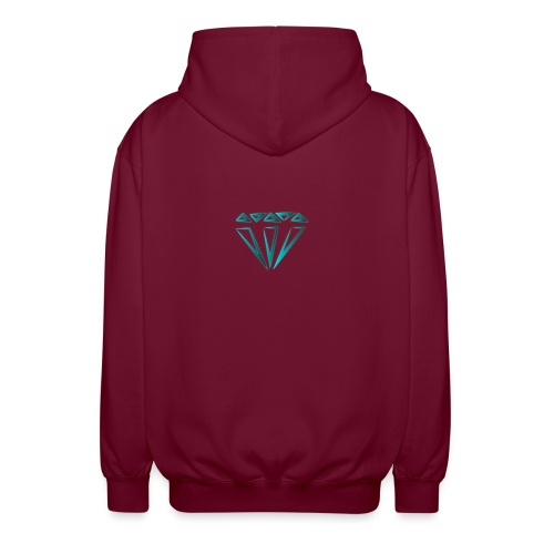 diamante - Felpa unisex con cappuccio