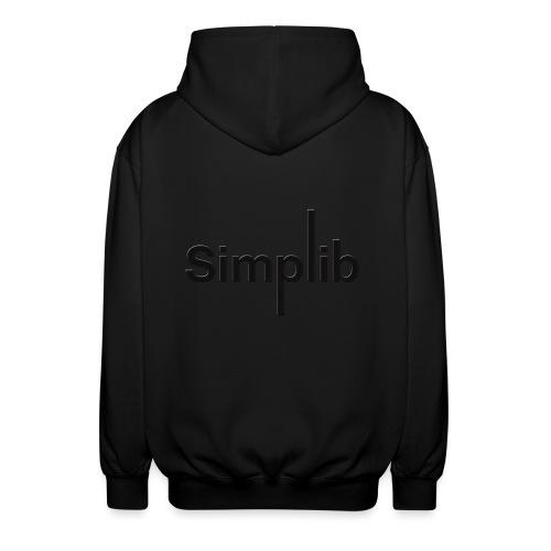 Logo-Simplib-ok - Rozpinana bluza z kapturem unisex