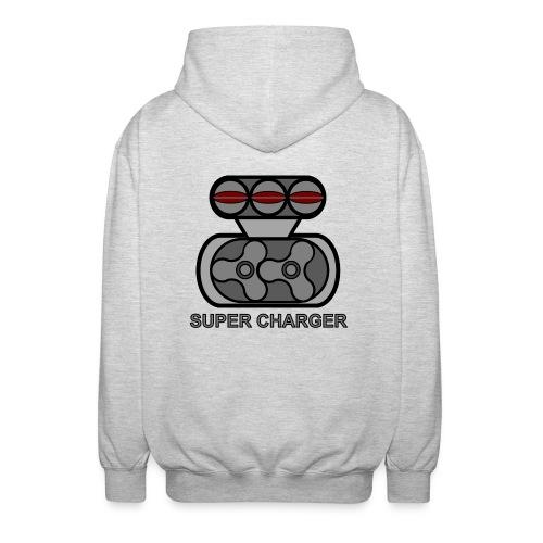 SUPER CHARGR - Felpa unisex con cappuccio