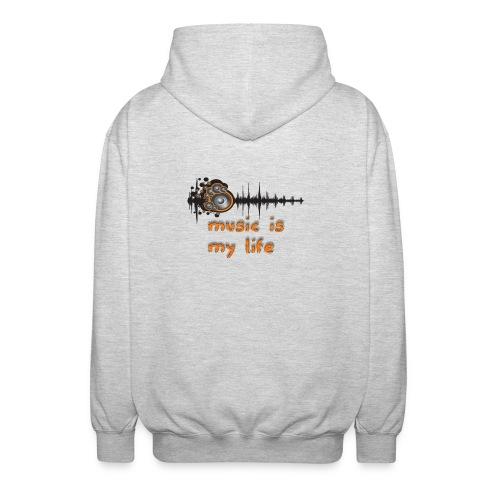 Music is my Life - Felpa unisex con cappuccio