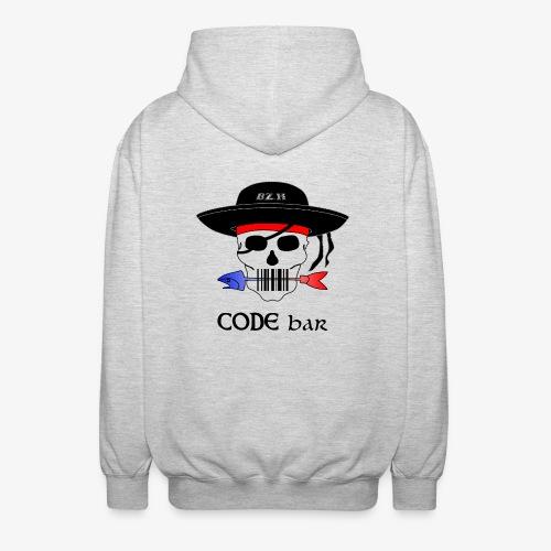Code Bar couleur - Veste à capuche unisexe